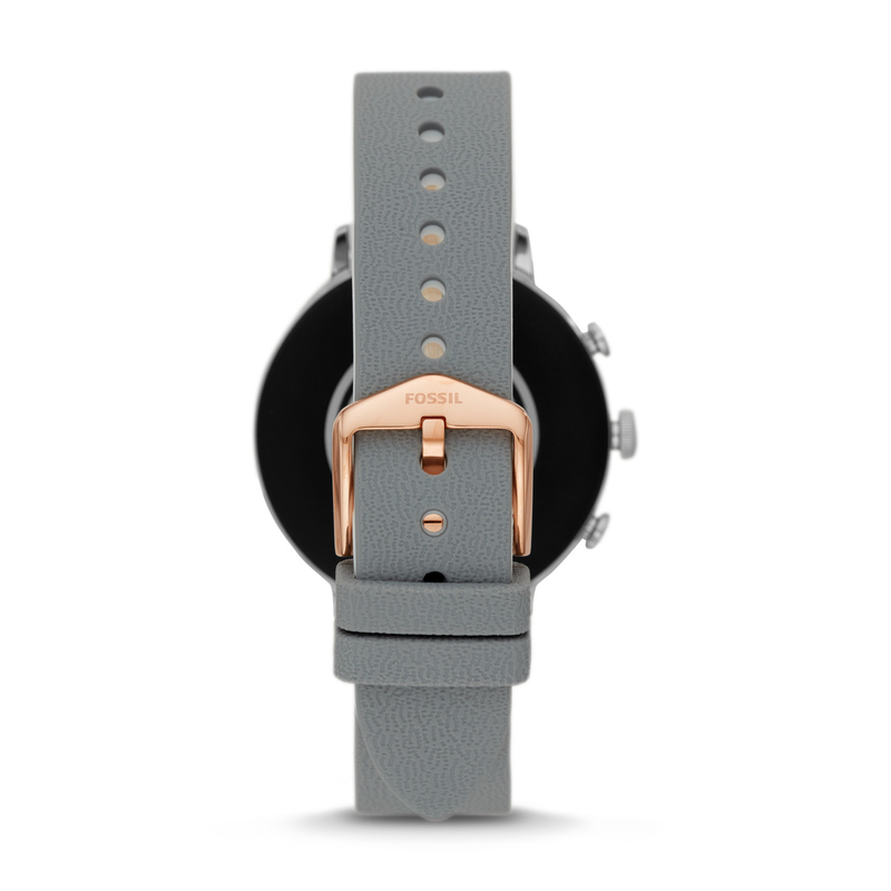 Fossil Q Venture HR 48mm Women's Stainless Steel Combo Rose Gold with Silicone Sheen Multi Strap