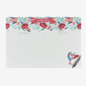 Legami Smart Notes Paper Mousepad & Notepad Flowers