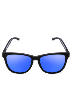 Emoji Total Custom Rubber Black/Blue Adult Sunglasses