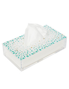 Silsal Design Accents Tissue Box Turquoise