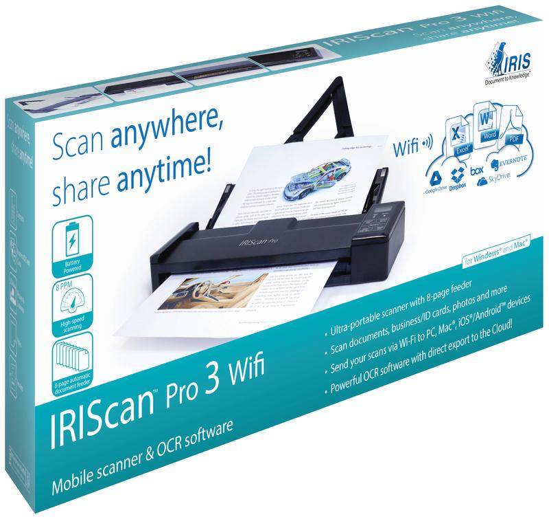 I.R.I.S. IRIScan Pro 3 Wi-Fi Sheet-fed Scanner 600 x 600DPI A4 Black ...