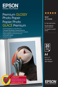 Epson Premium Glossy Photo Paper A4 [20 Sheets]