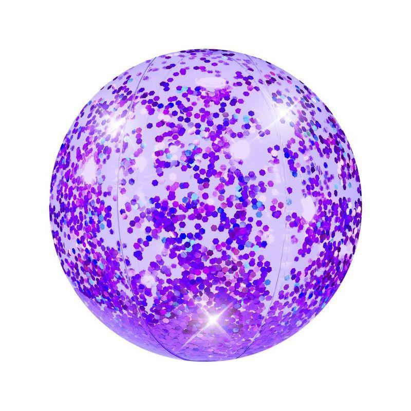 Purple Prism Glitter Beach Ball 13 75 Inch