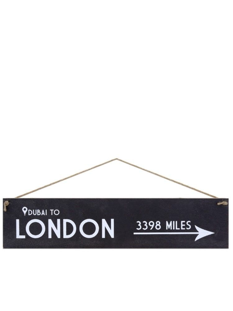 I Want It Now London Wooden Location Sign