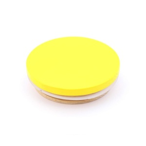 Design Letters Wooden Lid For Porcelain Cup Yellow