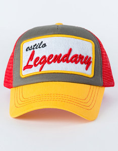 B180 Legendary Orange/Grey/Red Unisex Cap