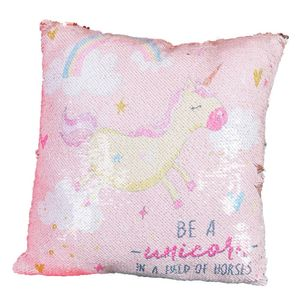 Just 4 Kids Unicorn Magic Sequin Cushion