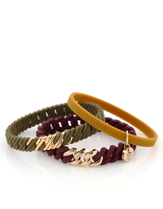THE RUBZ NANO 2PACK BRACELETS AUTUMN MIX & SOFT GOLD