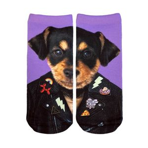 Living Royal Punk Dog Glow Women's Ankle Socks