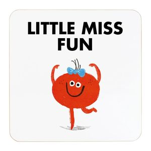 Ohh Deer Little Miss Fun White/Orange Coaster