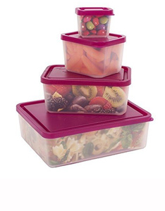 Bentology Box Food Containers Raspberry [Set of 4]
