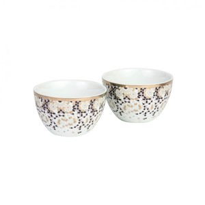 Silsal Set Of 2 Mirrors Condiment Bowls Silver