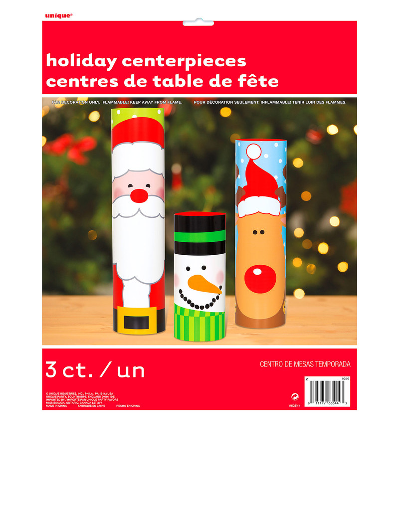 Christmas Party Planning.Unique Christmas Table Centerpieces Pack Of 3
