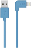 Belkin 90 Degree Sync/Charge Lightning Cable Blue