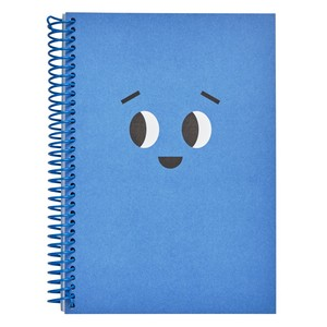 Kikki.K A5 Everyday Spiral Notebbook Smile Azure Blue