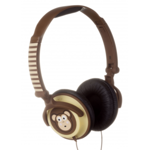 My Doodles Monkey Children's Character 85db Volume Limiting Headphones
