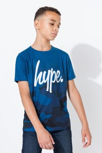 Hype Blue Camo Fade Kids T-Shirt