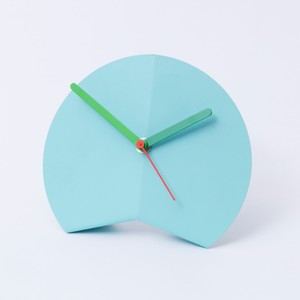 Block Origami Desk Clock Blue