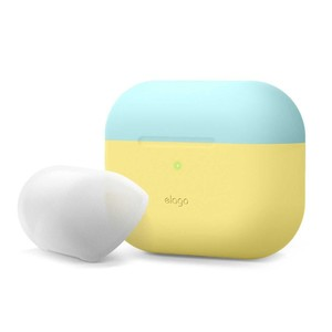 Elago Duo Case Top Coral Blue/Nightglow Blue Bottom Creamy Yellow for AirPods Pro