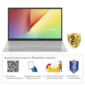 "ASUS VivoBook Laptop A420FA-EB199T i7-8565U/8GB/512GB SSD/Intel HD Graphics/14"" FHD/45Hz/Windows 10/Transparent Silver"