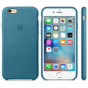 Apple Leather Case Marine Blue iPhone 6/6S
