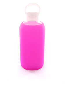 BKR Baby 1L Sheer Bright Pink Water Bottle