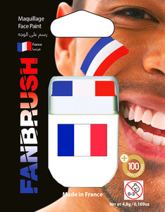 Fanbrush France Flag Face Paint