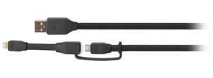 Tylt Sync Cable Duo Charge & Sync Black Cable 1M