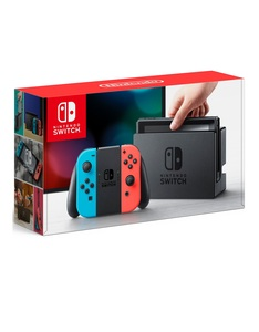 Nintendo Switch 32GB Console with Neon Joy-Con Controller