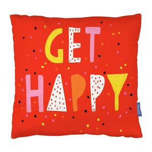 Ohh Deer Get Happy Red/Pink/Yellowith White Cushion