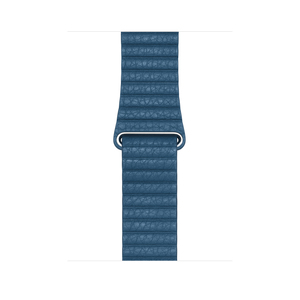 APPLE 44MM LEATHER LOOP CAPE COD BLUE FOR APPLE WATCH LARGE