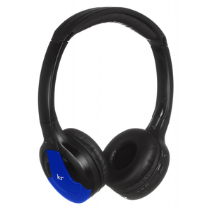 KitSound Arcade Blue With Mic Bluetooth On-Ear Headphones