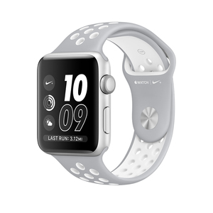 Apple Watch Nike+ 42mm Sport Band Flat Silver/White Silver Aluminium Case