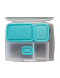 Bentology Portion Perfect Bento Box Clear/Turquoise