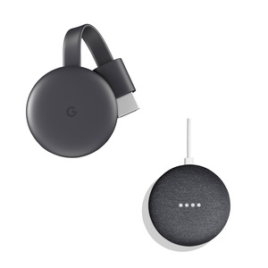 Google Smart TV Kit - Google Home Mini & Chromecast [3rd Gen]