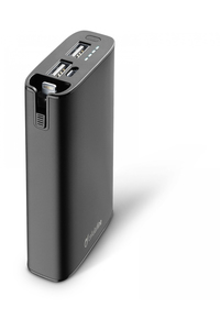 Cellular Line Freepower Combo 6700mAh Black Power Bank with Mfi Lightning Connector