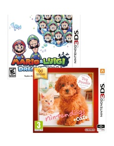 Mario And Luigi Dream Team +Nintendogs Poodle Selects [Bundle]