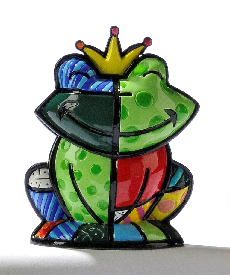 Romero Britto Mini Frog Prince Charming Figurine