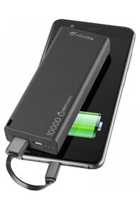 Cellular Line Freepower Slim 10000mAh Black Power Bank
