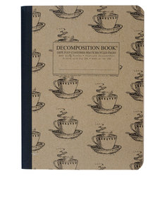 Decomposition Notebook Coffee Cup One Color [Large]