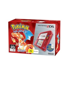 Nintendo 2DS Pokemon Edition Red Console +1 Game [Bundle]