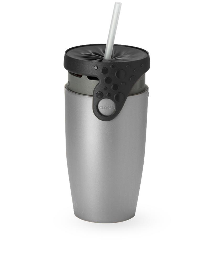 Twizz Neolid Silver Flash Travel Mug Silver/Black
