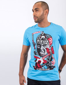 Sickindividual Ali Light Blue Crew-Neck T-Shirt