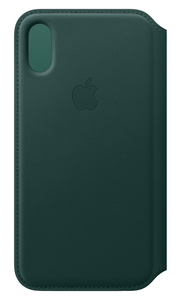 APPLE LEATHER FOLIO FOREST GREEN FOR IPHONE XS