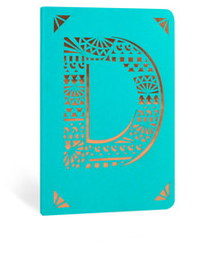 Portico Design D Monogram Turquoise A6 Notebook