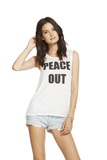 Chaser Peace Out White Women's T-Shirt
