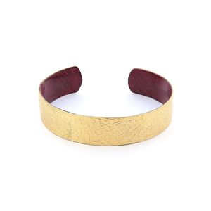 Afrika Tiss Bracelet Hammered Bronze/Raspberry Red
