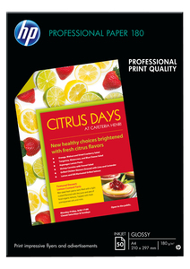 HP Professional Glossy Inkjet Paper [50 Sheet] [210x297 mm]