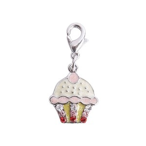 Bombay Duck Diamante Cup Cake Charm