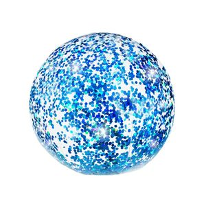Glitter Beach Ball  Blue Glitter 13.75 Inch